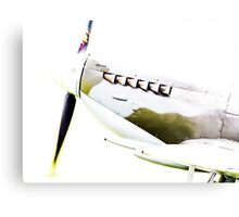RAF Spitfire up close and personal Canvas Print