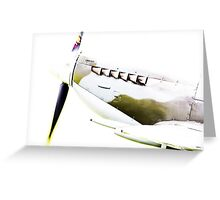RAF Spitfire up close and personal Greeting Card