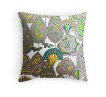 Moths and Plants Throw Pillow