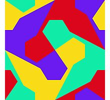 Colorful misc shapes Photographic Print