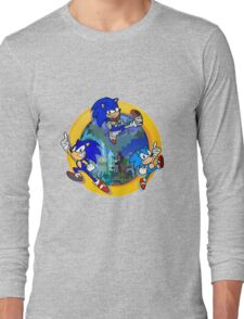 3 Shades of Sonic Long Sleeve T-Shirt