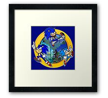 3 Shades of Sonic Framed Print