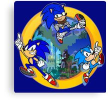 3 Shades of Sonic Canvas Print