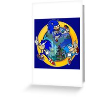 3 Shades of Sonic Greeting Card