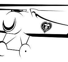 WWI Nungesser Nieuport 17 Biplane by AlphaEchoing
