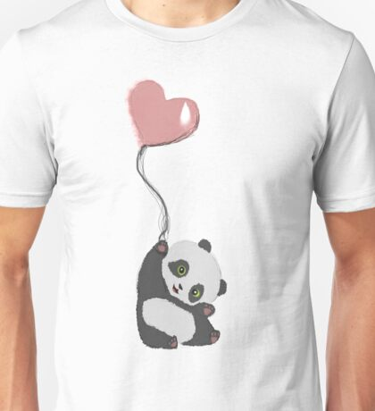 Panda And Balloon Unisex T-Shirt