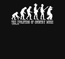 Evolution of Country Music (White Ink) Unisex T-Shirt