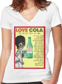 Retro Poster Women's Fitted V-Neck T-Shirt