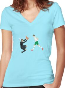 The Italian Rob Women's Fitted V-Neck T-Shirt