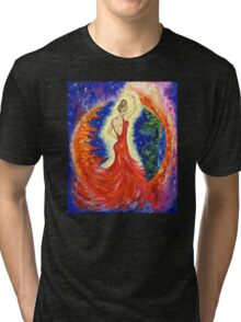 Dancing between two worlds Tri-blend T-Shirt