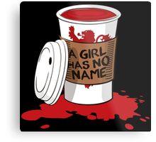 A girl has no name!  Metal Print