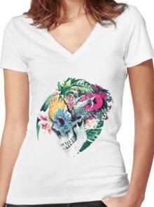 Skull ST Women's Fitted V-Neck T-Shirt