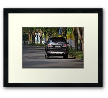 black colored toyota fortuner Framed Print