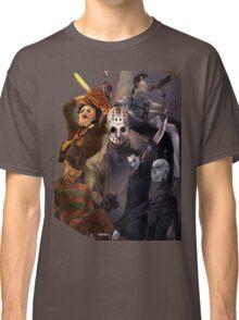 Terror Team - Ash Williams, PinHead, Leatherface, Freddy Krueger, Jason Voorhees, Ella, Micheal Myers Classic T-Shirt