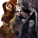 Terror Team - Ash Williams, PinHead, Leatherface, Freddy Krueger, Jason Voorhees, Ella, Micheal Myers by ramox90