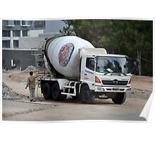 indocement concrete mixer truck Poster