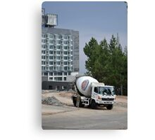indocement concrete mixer truck Canvas Print