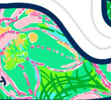 Vineyard Vines Green Lilly Sticker