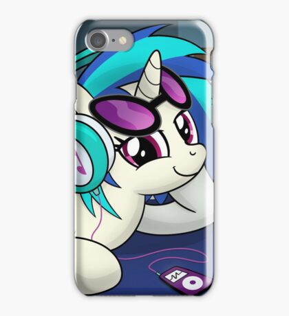 The Audiophile (Vinyl Scratch Poster) iPhone Case/Skin