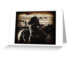 Cowboy Western Rodeo Horse Riding Vintage Look Greeting Card