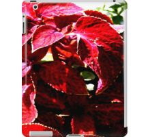 nature red leaves  iPad Case/Skin