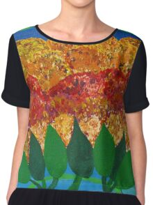 A Day In The Garden Chiffon Top