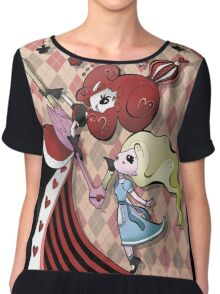 Alice and Red Queen by Lolita Tequila Chiffon Top
