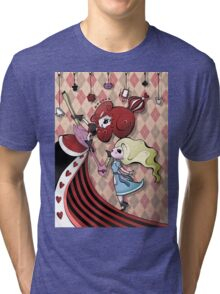 Alice and Red Queen by Lolita Tequila Tri-blend T-Shirt
