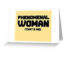 Phenomenal Woman, inspired by Maya Angelous Greeting Card