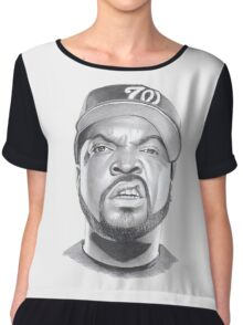 ice cube drawing Chiffon Top