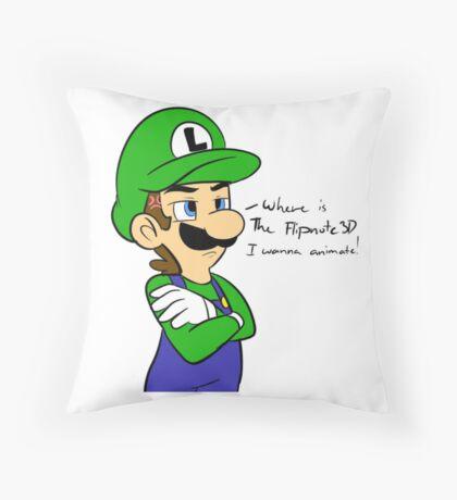WHERE IS FLIPNOTE DAMMIT?!?! Throw Pillow