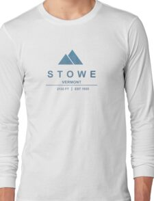 Stowe Ski Resort Vermont Long Sleeve T-Shirt