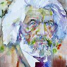 FREDERICK DOUGLASS - watercolor portrait by lautir
