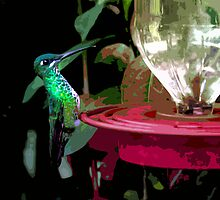 Mindo Hummingbird Painting by Al Bourassa