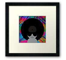 Funky Music Vinyl Records Framed Print