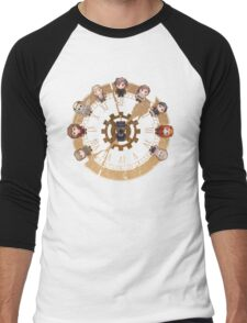 Retro Time Dilemma (US Ver.) Men's Baseball ¾ T-Shirt