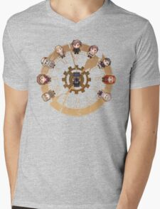 Retro Time Dillema (US Ver.) Mens V-Neck T-Shirt
