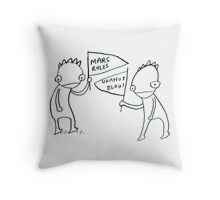 Intergalactic Sports Fans Throw Pillow