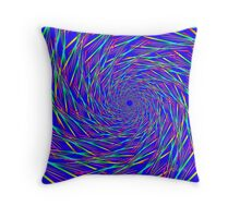 Colorful Funnel Fractal 61716 Throw Pillow