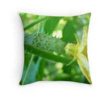 Flowering Cucumber Throw Pillow