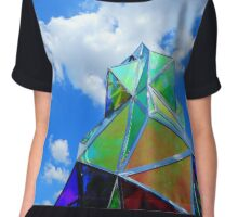 Sculpture and Sky Chiffon Top