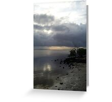 Ponce De Leon Dusk Beach Greeting Card