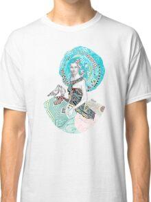 Paris Floral Love Birds Girl  Classic T-Shirt