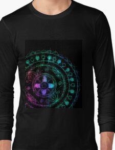 Midnight Rainbow Mandala Long Sleeve T-Shirt