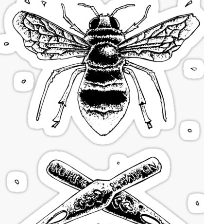 Bee and ink nibs Sticker
