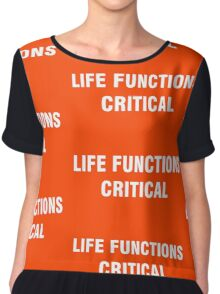 2001 SPACE ODYSSEY - HAL 9000 - LIFE FUNCTIONS CRITICAL Chiffon Top