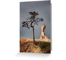Tree and Queen Victoria, Bryce Canyon National Park, Utah, USA. Greeting Card