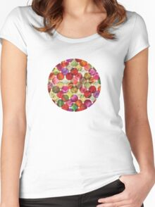 Macro floral bubbles Women's Fitted Scoop T-Shirt