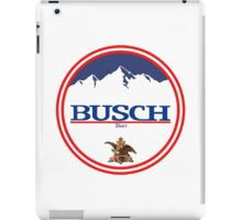 buschlight, busch light, busch, beer, drink, mountain, pub, logo, symbol. iPad Case/Skin