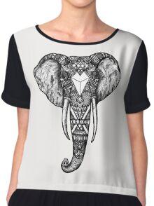 elephant Chiffon Top